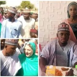Videos and Photos from the official wedding ceremony of Sulaiman Isa, 23, and his 46-year-old American lover – Watch Video