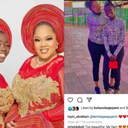 Toyin Abraham Gushes Over Her Stepdaughter And Call Her 'My Love'.