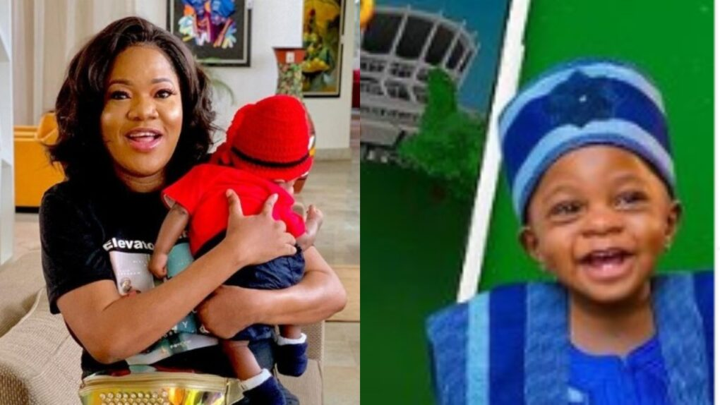 God Will Judge You – Troll Attacks Toyin Abraham After She Reveals Her Son, Ire's face