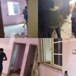 Lady cries out for help after a house she rented with N450k gets sold by the landlord and demolished weeks after making payment (video)