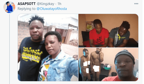 Man who caught his wife sleeping with his friend in their home takes a selfie for his in-laws (photos)