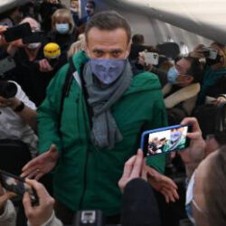 Russian opposition leader Alexey Navalny immediately arrested on return to Moscow five months after being allegedly poisoned by the government