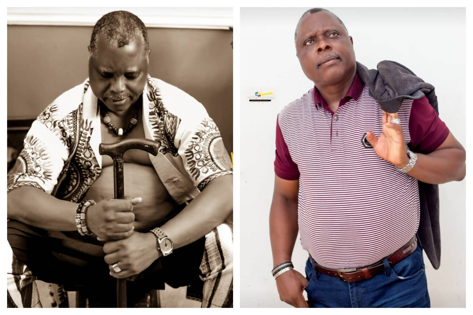 """""""Let's learn how to preserve our heritage, it adds value""""-Veteran Actor Dele Odule, Reveals 54 Years Old Walking Stick Of His Grandfather (photo)"""