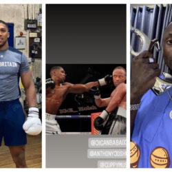 """Even in Photoshop Dem still beat you""-Reactions As Jigan Shares Photoshopped Picture Of Him And Anthony Joshua In The Ring"