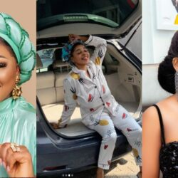 Mercy Aigbe, Seyi Edun, others congratulate fast-rising actress, Peju Johnson as she acquires a new Car