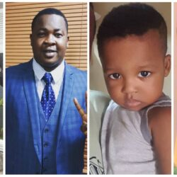 Meet Nollywood Actor Babatunde Bernard Babatee's Wife and his son (photo)