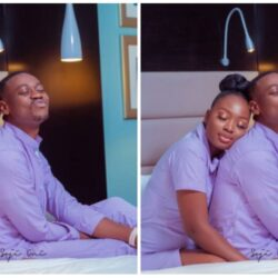 """""""If u wan marry make u marry""""- Fans React as Adedimeji Lateef shares adorable loved up photos with Mo Bimpe"""