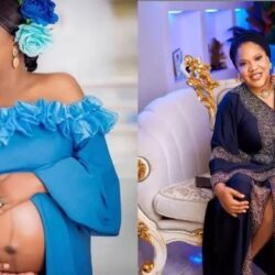 'No need for DNA test' – Nigerians react to new photo of Toyin Abraham and her son, Ire