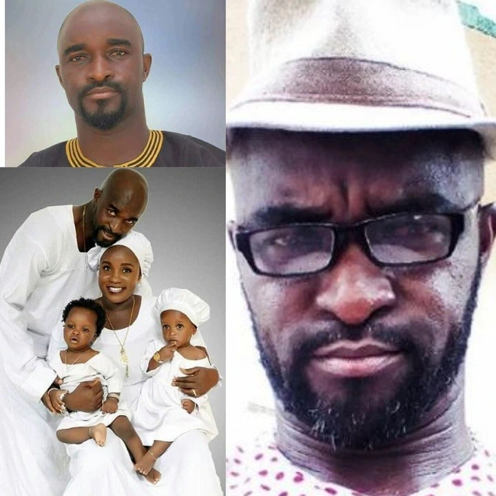 Meet The Handsome Yoruba Actor Don Richard, His Wife And Their Children