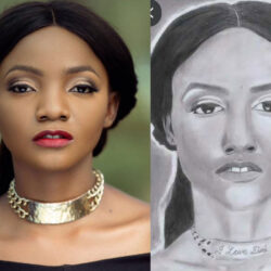 "Who Is This Oh"" — Singer, Simi Reacts To An Artwork Made For Her By A Fan (PHOTO)"
