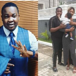 Reactions As Popular Actor, Baba Tee Shares Family Picture after he was Mocked of him of having a low sperm count