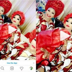 Bobrisky reveals his mum from New York who came to party in Nigeria.(Video)