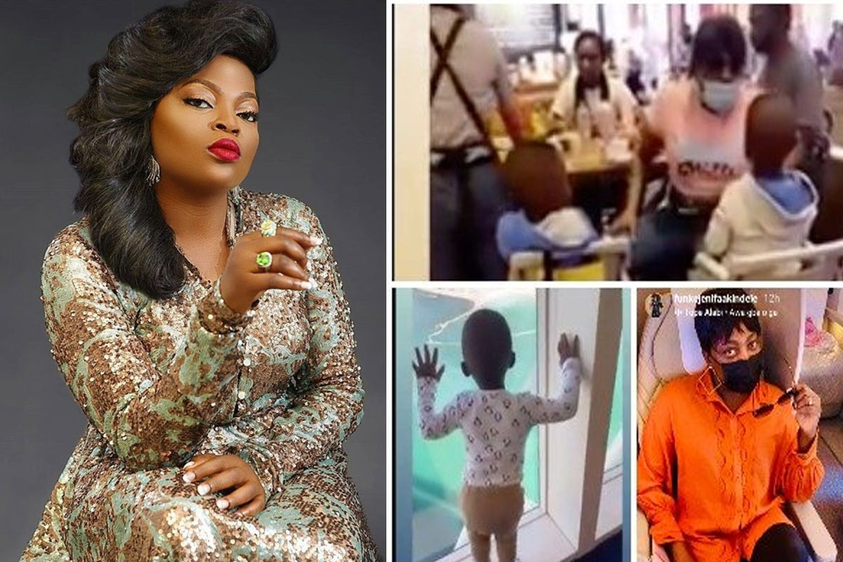 Funke Akindele Shares Video Of Her Twins Dancing And Singing The #Askamaya Anthem As They Vacation In Dubai