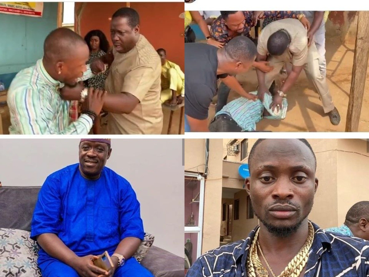 Jigan Baba Oja Staged A Fight With Ogogo Today. See Outcome (Video)