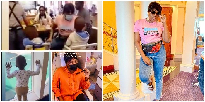 Nollywood Actress Funke Akindele Shares Video Of Her Twins Dancing And Singing The #Askamayaanthem As They Vacation In Dubai