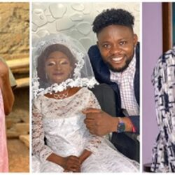 Popular small-sized socialite, Aunty Ramota weds Yoruba Actor Jamiu Azeez (video)