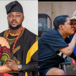 I love stressing him' – Toyin Abraham says as she shares loved up photo with husband
