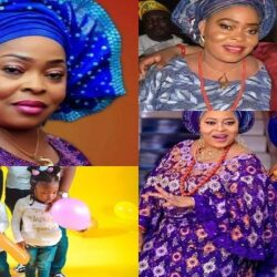 See Adorable Pictures of Toyin Adegbola (Toyin Asewo to re Mecca), her children and grandchildren