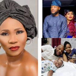 See Lovely Photos Of Popular Yoruba Actress Yewande Adekoya, Her Husband And Two Cute Children