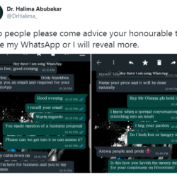 Northern female doctor calls out Igbo lawmaker who is asking her for a romantic relationship