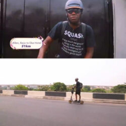 HIP TV boss, Ayo Animashaun rides an electric scooter from Ikeja to Victoria Island (video)