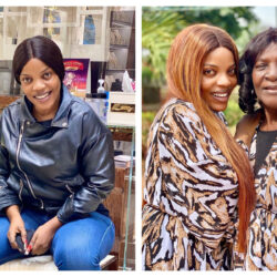 Nollywood Actress Empress Njamah Celebrates Her Mother's 79th Birthday As She Twin In The Same Outfit With Her (photos)