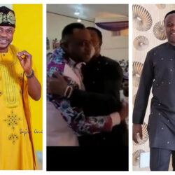 """""""Ronaldo and Messi of yoruba movies"""" – Mide Martins And Others React To The Way Femi Adebayo And Odunlade Greeted Each Other At An Event (Video)"""