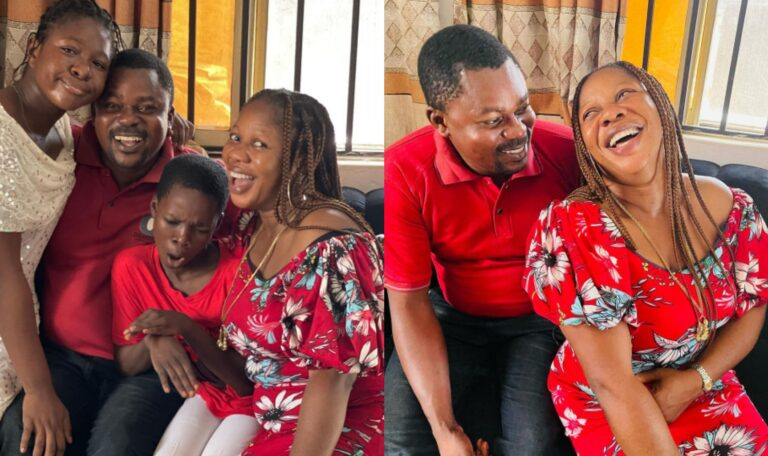 Yoruba Actress Eniola Afeez Shares Lovely Photos Of His Wife And Children As He Celebrates Valentine's Day
