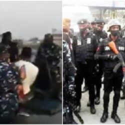 Photos of suspected #occupylekkitollgate protesters arrested this morning at Lekki toll gate