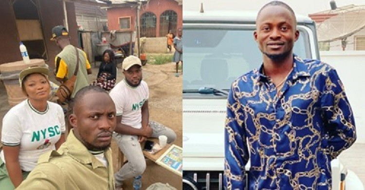 """""""Jigan goes to service… Abeg no break person eye o"""" – Fans Reacts As Yoruba Actor Jigan babaoja and Others Were Spotted in NYSC Uniform (Photo)"""