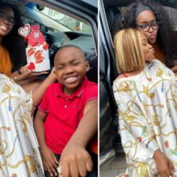 'My Vals forever' – Actress, Mercy Aigbe says as she shares photos with her two children