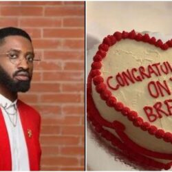 'Book me to come perform 'Thunder Fire You' in your break up party' – Ric Hassani react to viral break up cake