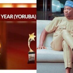 Congratulations Are In Order for Yoruba Actor Lateef Adedimeji As He Wins the Nollywood Actor of the Year (photo)