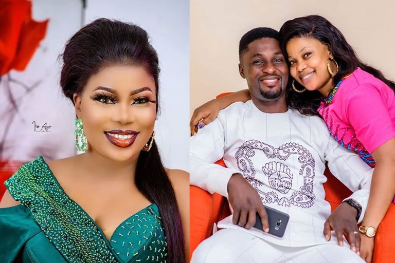 """I Treasure Every Moments With You"" Yoruba Actress, Seyi Edun Says As She Celebrates Her Husband Adeniyi Johnson's Birthday"