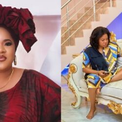'You are beautiful' – Fans praise Toyin Abraham as she shares rare photo of self chilling in her luxury sitting room