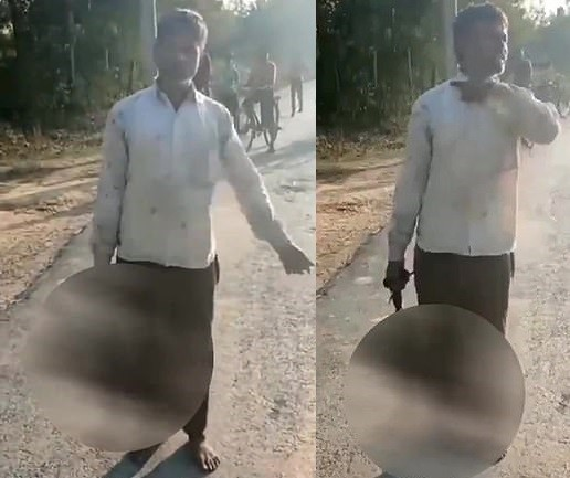 Father cuts off 17-year-old daughter's head and carries it through the streets because he did not approve of her boyfriend (video)