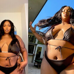 Lizzo flaunts her bikini body in new photos