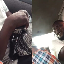 "My body is my body"" Man caught masturbating in commercial bus beats woman who filmed him while he was at it (video)"