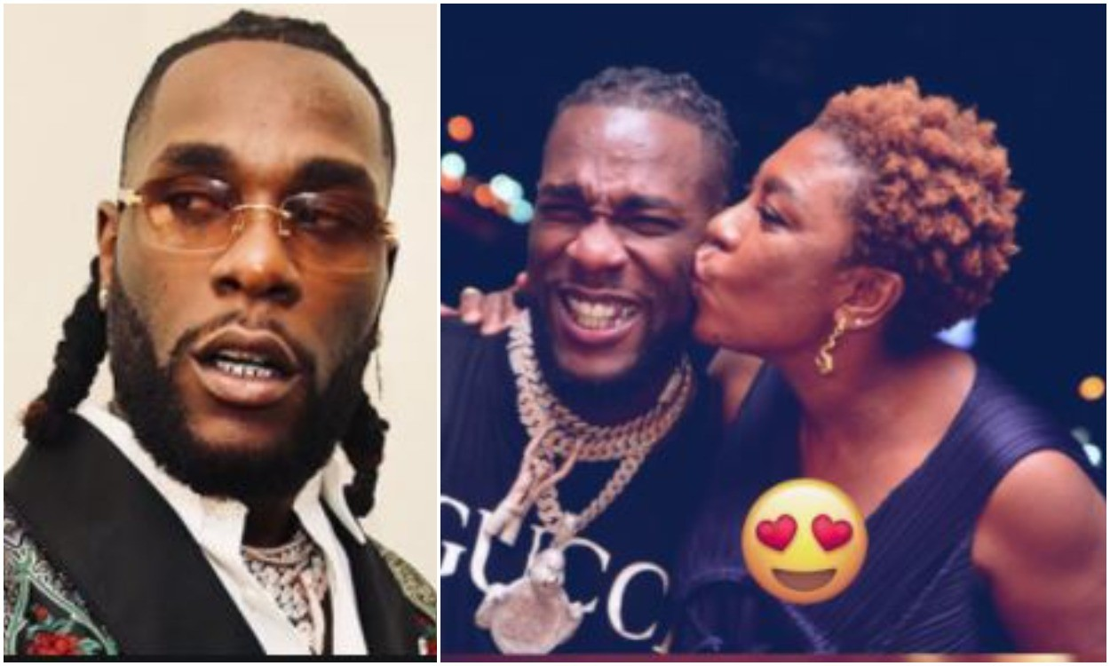 Watch Burna boy's mother epic reaction to his first Grammy award