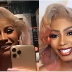 Jubilation as acclaimed 'Anambra CardiB' Mercy Eke finally get recognized by the real one