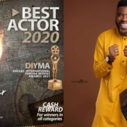 Congratulations Are In Order For Veteran Yoruba Actor Ibrahim Chatta As He Won The Best Actor Of The Year At The DIYMA Awards  click to see more photos