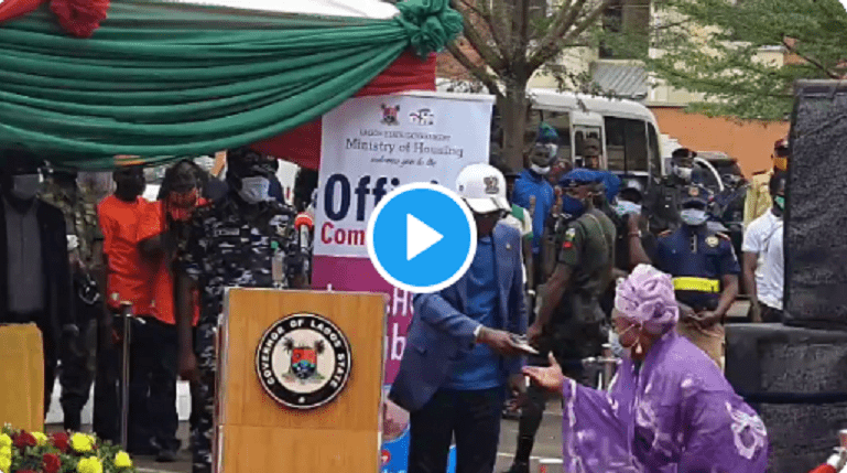 Congratulations Are In Order For Veteran Yoruba Actress Iya Awero As She Was Gifted A Three-Bedroom Apartment By Gov. Jide Sanwo-Olu (Video)
