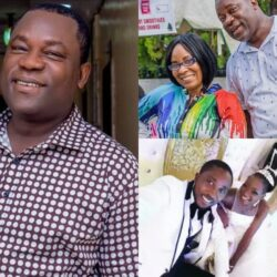Lovely Photos of Yoruba Actor Aina Gold, His Beautiful Wife and Two Adorable Children