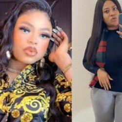 Actress Nkechi Blessing Sunday and cross-dresser Bobrisky reconcile weeks after they fought dirty on social media 'over a married man' (video)