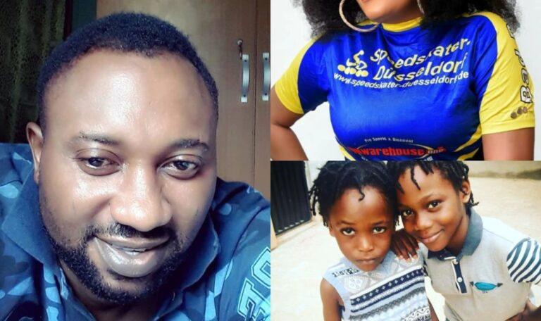 Meet Yoruba Actor Austine Emmanuel, His Kids And Wife who is Also a Yoruba Actress (Photos)