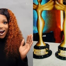 Congratulation Are In Order For Yoruba Actress, Bukunmi Oluwasina As She bags 3 awards In A Night At The Nigerian Achievers' Awards (photo)