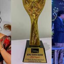 Nollywood Actress Tonto Dikeh Wins Global Humanitarian Celebrity Of The Year (Video)