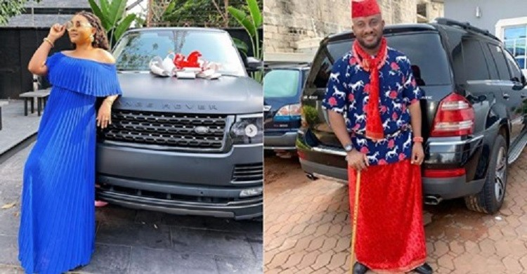 Actress Mercy Aigbe and Actor Yul Edochie preach against peer pressure on social media