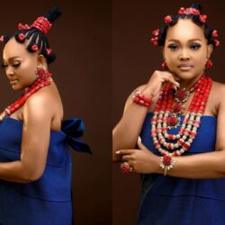 Mercy Aigbe Stuns In Colourful Traditional Attire, See her beautiful Pictures