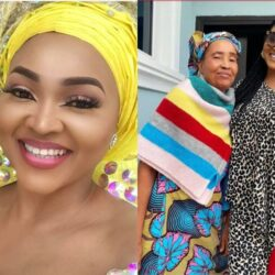 See Beautiful Pictures of Mercy Aigbe's Mother sharing memorable Moments with her Family